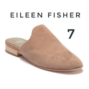 Eileen Fisher Notched Suede Dion Mule